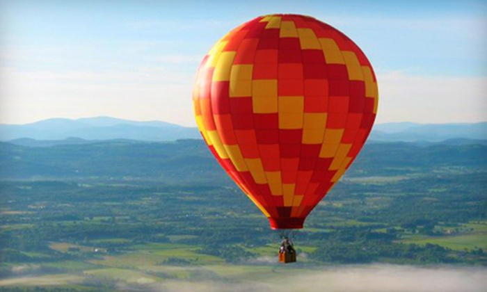 SunKiss Ballooning - Queensbury: Hot Air Balloon Excursion and Picnic for Two from SunKiss Ballooning in Queensbury (Up to 60% Off). Two Options Available.