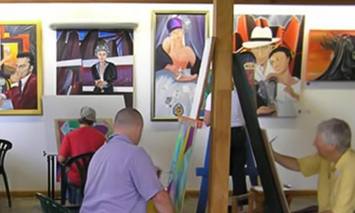 SunDust Gallery - Downtown Mesa: $40 for a BYOB Painting Class for Two at SunDust Gallery in Mesa ($80 Value)
