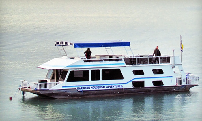 Harrison Houseboat Adventures - Harrison Hot Springs: One-, Two-, or Three-Day Houseboat Rental for Up to 10 from Harrison Houseboat Adventures in Agassiz (Up to 61% Off)