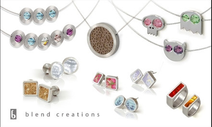 Blend Creations: $35 for $70 Toward Contemporary Jewellery from Blend Creations