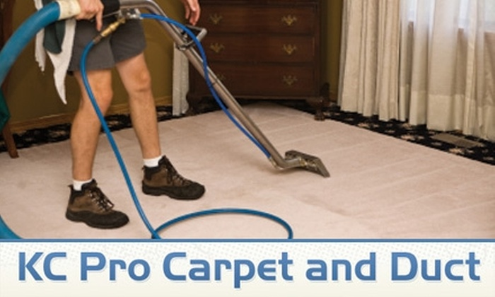 KC Pro Carpet and Duct - Kansas City: $69 for Three Rooms of Carpet Cleaning from KC Pro Carpet and Duct (Up to $246 Value)