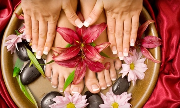Nails by Jaynee at Auburn Massage Centre - Auburn: $20 for an Ultimate Pedicure ($40 Value) or $17 for an Ionic-Detox Footbath ($35 Value) at Auburn Massage Centre