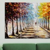 """Walking in the Forest Four-Panel Canvas Artwork (48""""x28"""")"""