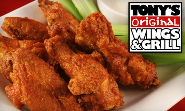 Tony's Original Wings & Grill - Sanford: $5 for $10 or $10 for $20 Worth of American Fare at Tony's Original Wings & Grill
