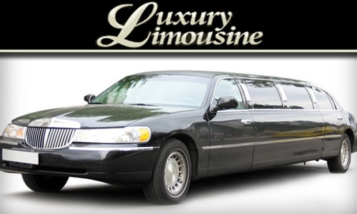 Luxury Limousine Service - Kansas City: $35 for $75 Worth of Limo Transportation from Luxury Limousine
