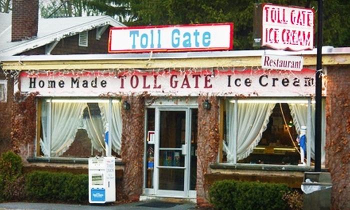 Toll Gate Ice Cream - Slingerlands: $7 for $15 Worth of Ice Cream and American Fare at Toll Gate Ice Cream in Slingerlands