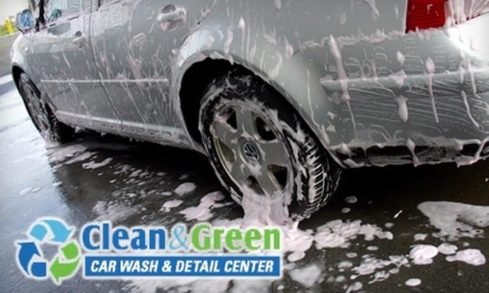 Clean and Green Car Wash - Marlborough: $19 for Three Premier Car Washes at Clean and Green Car Wash ($39 Value)