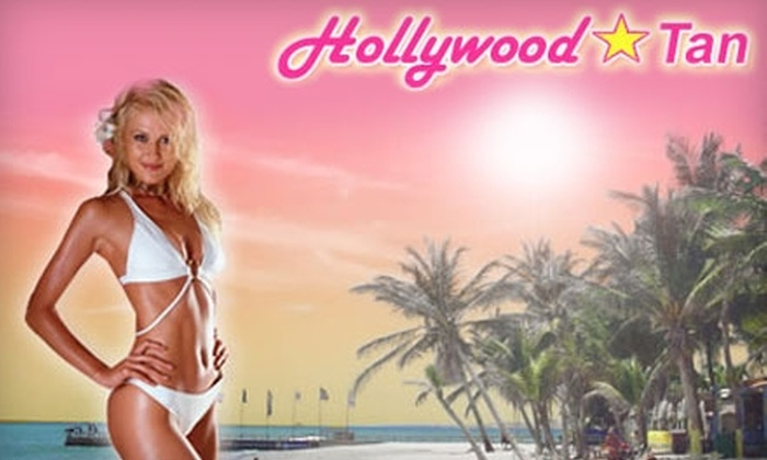 Hollywood Tans - Multiple Locations: $18 for One Month of Unlimited Tanning or Two Mystic Tans at Hollywood Tan