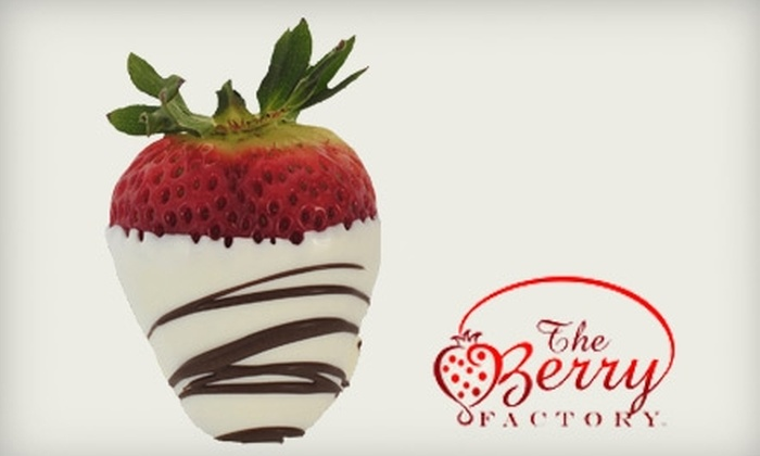 The Berry Factory - Multiple Locations: $18 for One Dozen Hand-Dipped and Swizzled Berries from The Berry Factory ($36 value)