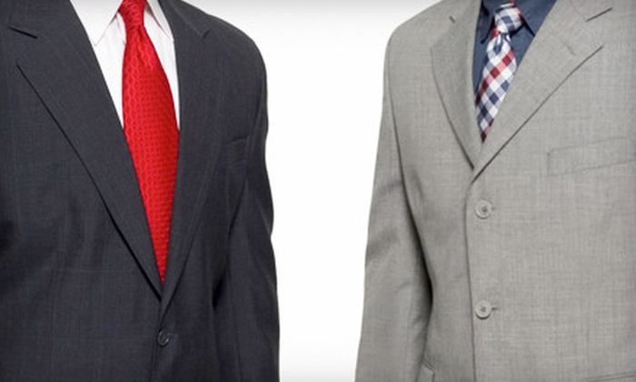 J.P. Tuxedo Warehouse - Oak Forest: $499 for Tailored Italian-Suit Package from J.P. Tuxedo Warehouse in Oak Forest (Up to $1,219 Value)