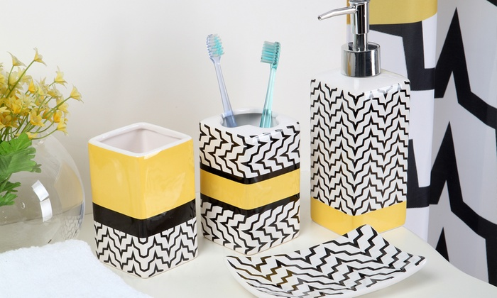 18 Piece Chevron Bath Set  Groupon