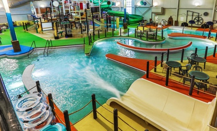 groupon daily deal - Stay at Grand Harbor Resort and Waterpark in Dubuque, IA. Dates Available into January.
