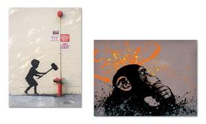 Banksy-Inspired Canvas Art Print at Banksy-Inspired Canvas Art Print, plus 9.0% Cash Back from Ebates.