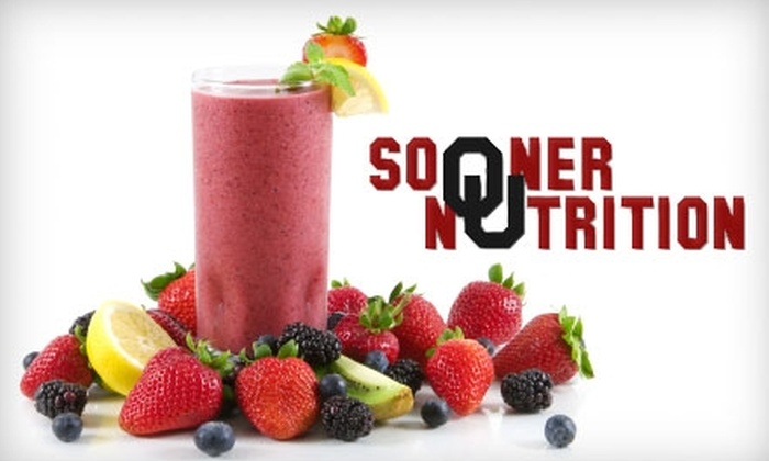 Sooner Nutrition - Norman: $10 for Up to Four Smoothie and Herbal-Tea Combos ($24 Value) or $20 for Entry into Weight-Loss Competition ($40 Value) at Sooner Nutrition in Norman