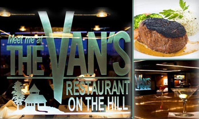 The Van's 'On The Hill' - Belmont: $15 for $30 Worth of Steakhouse Cuisine, Drinks, and More at The Van's 'On the Hill' in Belmont