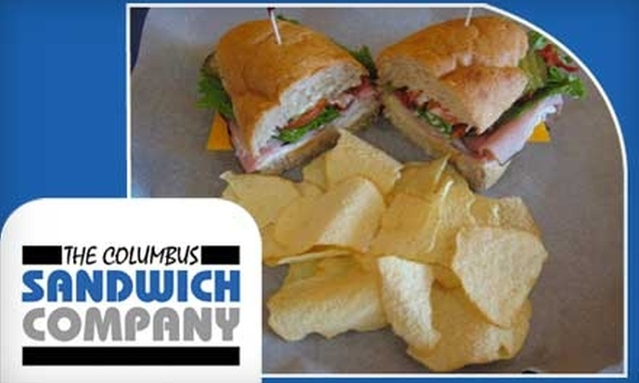 The Columbus Sandwich Company - South Columbus: $5 for $10 Worth of Freshly Prepared Eats at The Columbus Sandwich Company