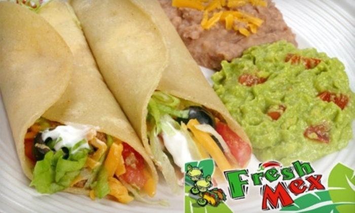 Fresh Mex - Downtown Reno: $10 for $20 Worth of Mexican Fare and Drinks at Fresh Mex