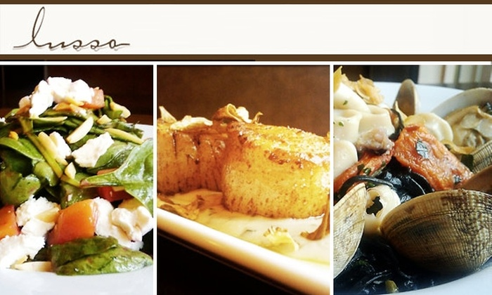 Lusso - SoHo: $20 for $50 Worth of Italian Food and Drinks at Lusso