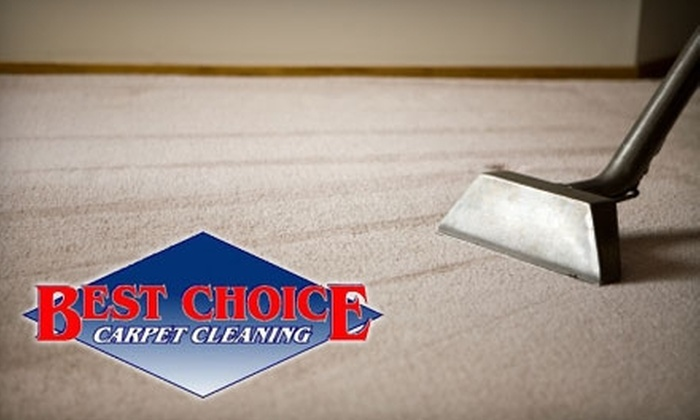 Best Choice Carpet Cleaning - Sioux Falls: $45 for Three Rooms of Carpet Cleaning from Best Choice Carpet Cleaning ($95 Value)