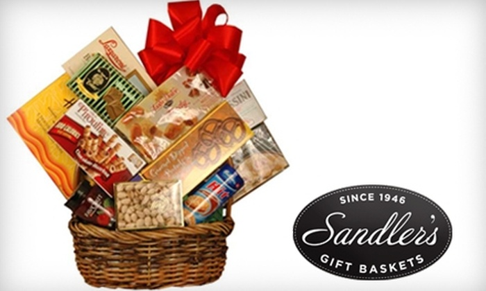 Sandler's Gift Baskets - Long Island: Gourmet Gift Basket or a Deluxe Nut Tray from Sandler's Gift Baskets