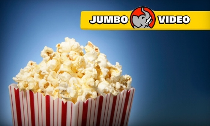 Jumbo Video - Multiple Locations: $10 for Four Seven-Evening DVD Rentals and Jumbo Popcorn at Jumbo Video