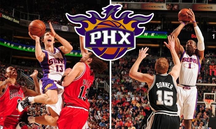 Phoenix Suns - Downtown Phoenix: $34 Phoenix Suns Tickets to 1 of 6 Different Games ($57 Value)