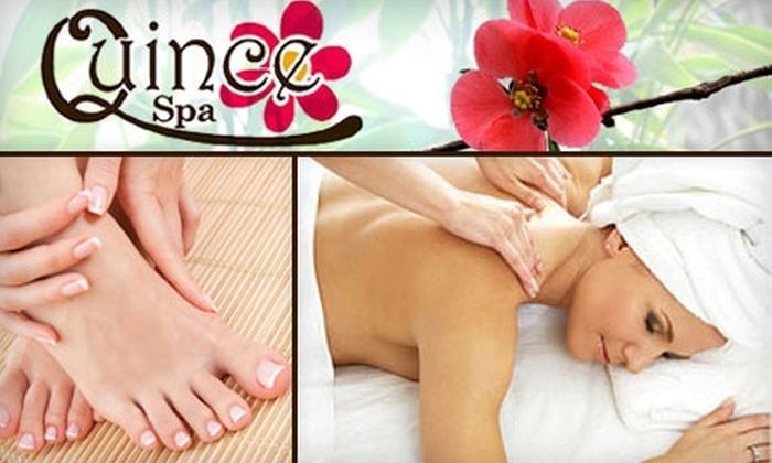 massage and mani pedi