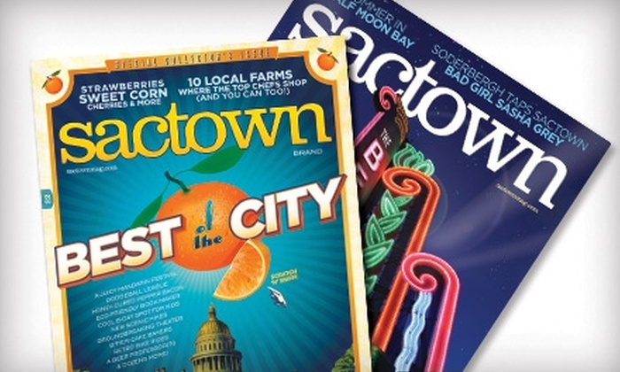 Sactown Magazine - Multiple Locations: $6 for a One-Year Subscription (Six Issues) to Sactown Magazine ($12 Value)