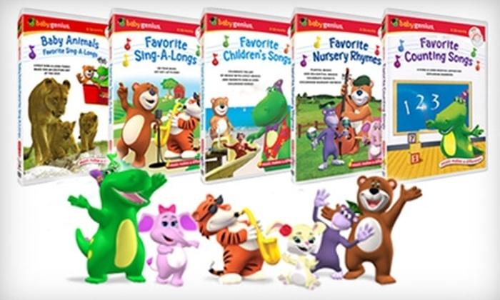 Baby Genius: $25 for Five Baby Genius DVDs, Plus Five Free Bonus CDs ($49.75 Value)