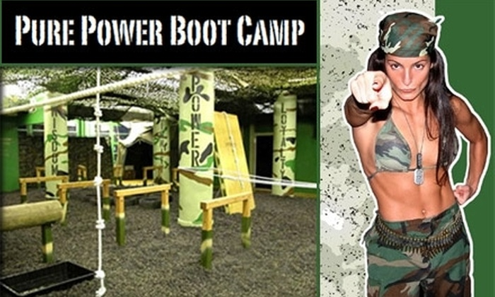 Pure Power Boot Camp - Multiple Locations: $89 for Six Sessions and T-shirt at Pure Power Boot Camp ($283 Value). Choose from Two Locations.