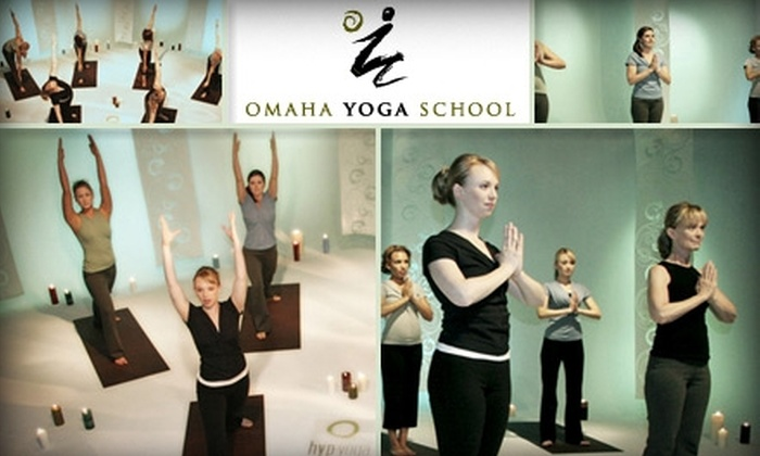 Omaha Yoga School - Downtown: $30 for Four One-Hour Drop-In Classes at the Omaha Yoga School ($64 Value)