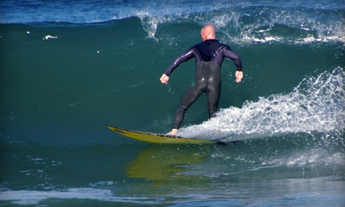 Adventure Out - Multiple Locations: $55 for a Three-Hour Introductory Surf Lesson from Adventure Out ($95 Value)