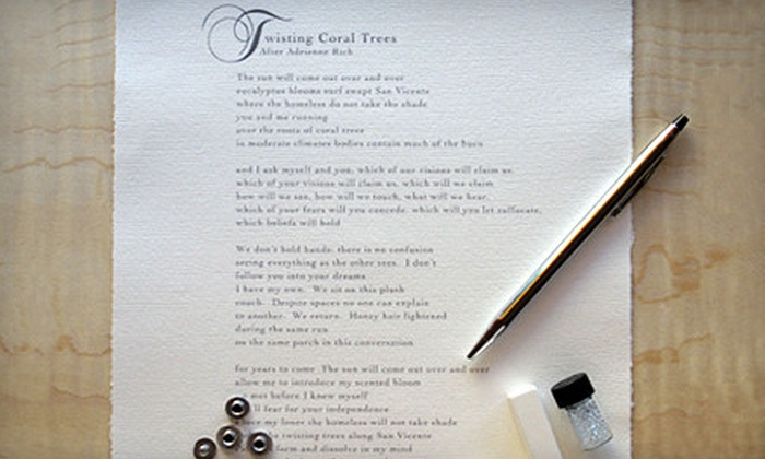 Poetry Salon: $125 for a Personalized Bespoke Poem from Poetry Salon ($275 Value)