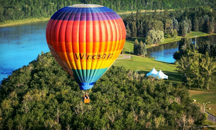 Windship Aviation - Calgary Trail North: One-Hour Hot Air Balloon Ride on a Weekday Morning or Anytime from Windship Aviation (Up to $128 Off)