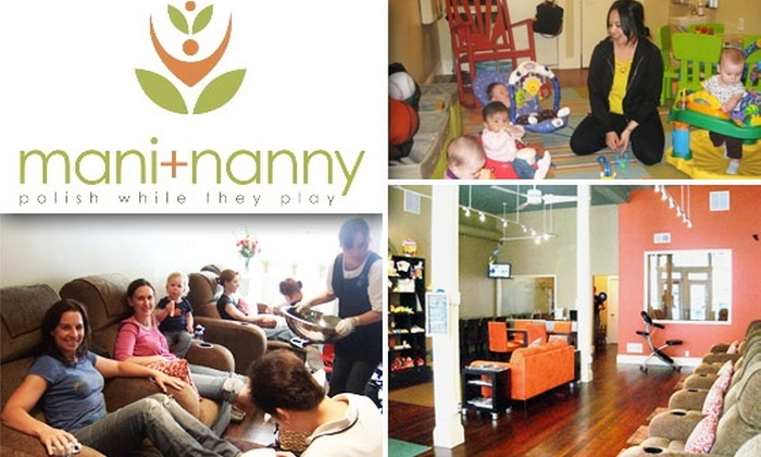 Mani & Nanny, Inc. - Lower Pacific Heights: Pamper Yourself with Two Pedicures for $30 While Your Children Play at Mani + Nanny ($60 Value)