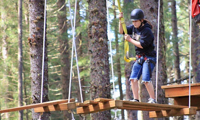 Camp Dakota - Camp Dakota: Zipline, High-Ropes Course, and Rock Climbing at Camp Dakota in Scotts Mills (Up to 60% Off). Two Options Available.