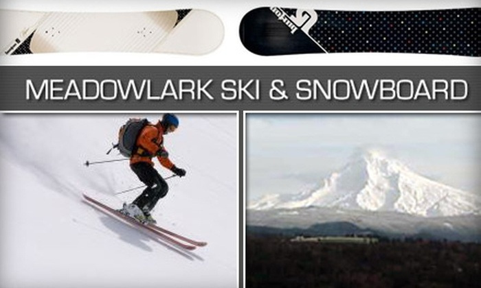 Meadowlark Ski and Snowboard - Sandy: $15 for $30 Worth of Equipment Rentals at Meadowlark Ski and Snowboard