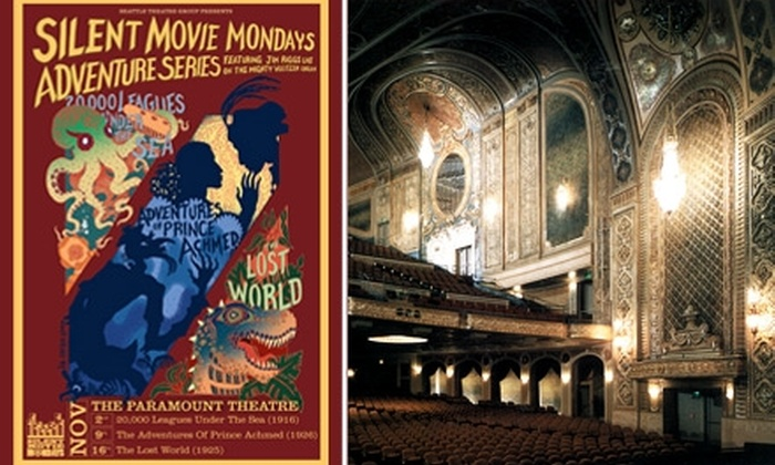 Seattle Theatre Group   - Seattle: $6 Ticket to a Silent Film at The Paramount Theatre ($12 Value). Buy Here for 'The Lost World' on November 16 at 7 p.m. See Below for Additional Shows and Dates.