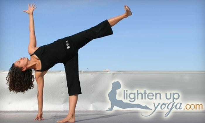 Lighten Up Yoga - Downtown Ashville: $40 for One Month of Unlimited Yoga Classes at Lighten Up Yoga ($120 value)