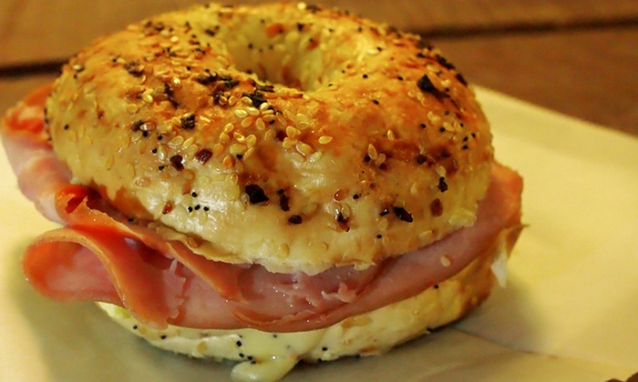 Bagelrama - Evansville: One Dozen Bagels with Cream Cheese or Three Groupons, Each Good for $7 Worth of Food and Drinks at Bagelrama