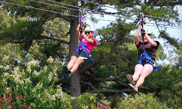 Zip Nac - Nacogdoches: Zipline Adventure for 2 or 4, or Zipline Party for Up to 10 at Zip Nac in Nacogdoches (Up to 60% Off)
