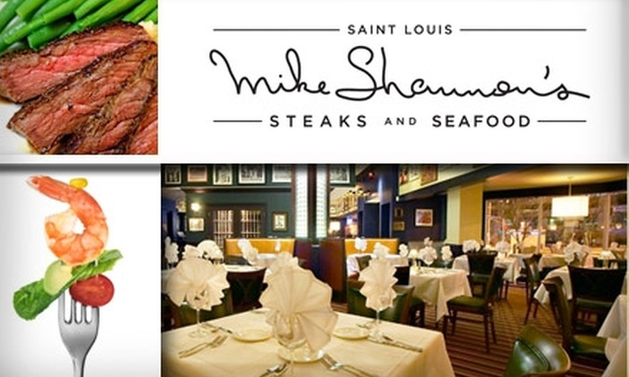 Mike Shannon's Steaks and Seafood - Downtown St. Louis: $20 for $50 Worth of Steakhouse Fare and Drinks at Mike Shannon's Steaks and Seafood
