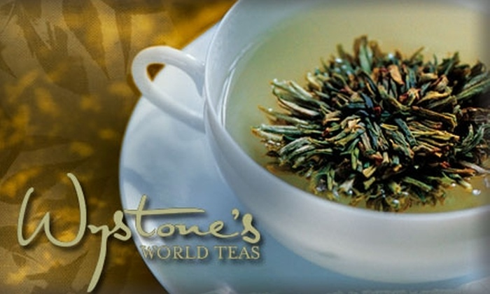 Wystone's World Teas - South Alameda: $5 for Tea Pairing with Cheese, Chocolate, or Gelato at Wystone's World Teas in Lakewood ($14 value)