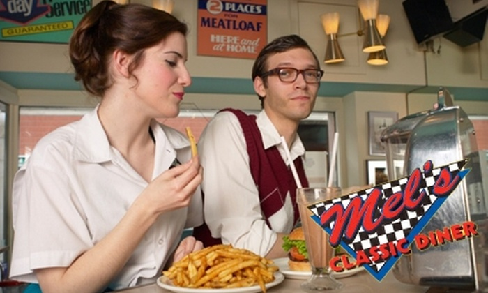 Mel's Classic Diner - Knoxville: $7 for $14 Worth of American Fare and Drinks at Mel's Classic Diner in Pigeon Forge