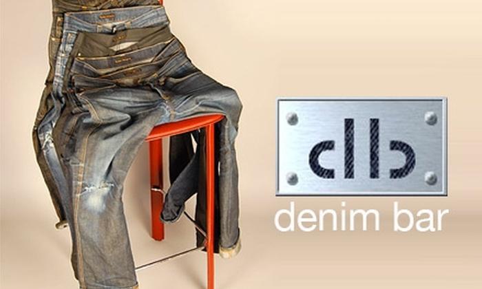 The Denim Bar - Multiple Locations: $50 for $125 Worth of Designer Denim & More at The Denim Bar