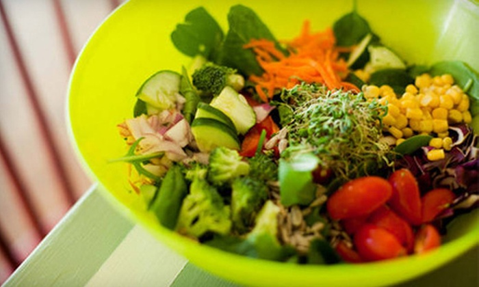 Everyday Organic - Multiple Locations: Two-Course Meal for Two or Four, or $6 for $12 Worth of Food-Cart Fare for Two at Everyday Organic