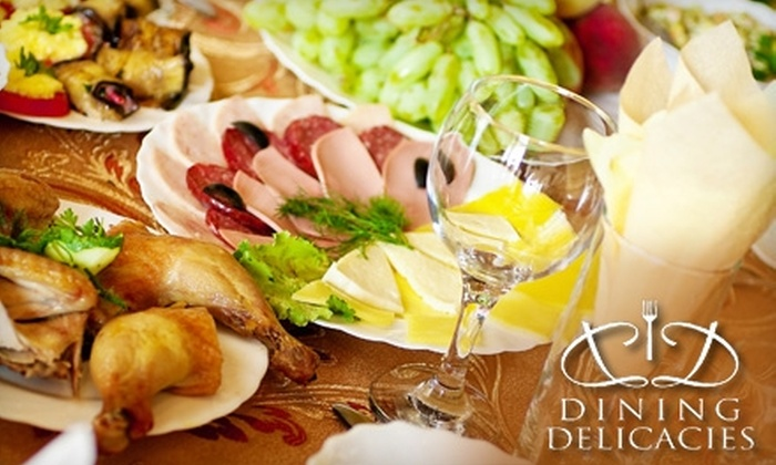 Dining Delicacies - Florissant: $75 for a Private Romantic Dinner for Two from Dining Delicacies ($150 Value)