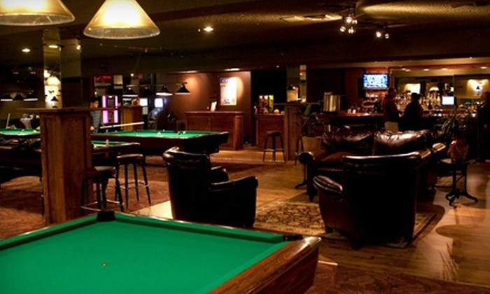 The Hub Billiard Club - Barnum Island: $15 for One Hour of Pool for Two, Two Menu Items, and Two Drinks at The Hub Billiard Club in Island Park ($34 Value)