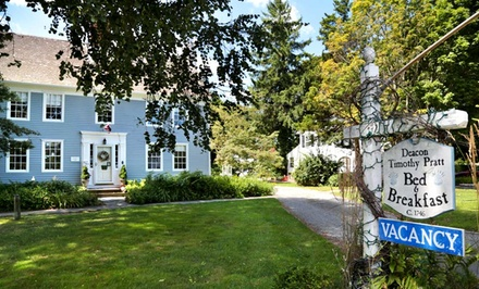 Stay at Deacon Timothy Pratt Bed and Breakfast in Old Saybrook, CT, with Dates into April