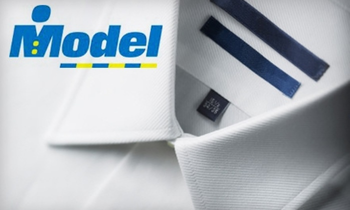 Model Cleaners - Multiple Locations: $15 for $30 Worth of Dry-Cleaning Services or $20 for Dry-Cleaning Services for 10 Items (Up to $55 Value) at Model Cleaners
